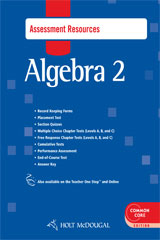 Holt McDougal Algebra 2  Common Core Assessment Resources with Answers-9780547710310