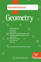 Holt McDougal Geometry  Common Core Assessment Resources with Answers-9780547710334