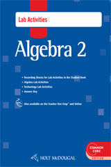 Holt McDougal Algebra 2  Lab Activities with Answers-9780547710419