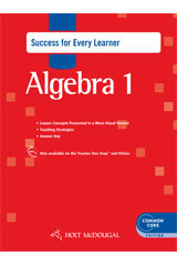 Holt McDougal Algebra 1  Success for Every Learner with Answers-9780547710495