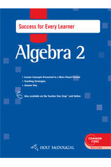 Holt McDougal Algebra 2  Success for Every Learner with Answers-9780547710501