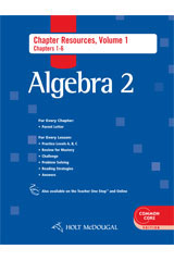 Order Holt McDougal Algebra 2 Chapter Resource Book with
