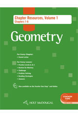 Holt McDougal Geometry  Chapter Resource Book with Answers Volume 1-9780547710617