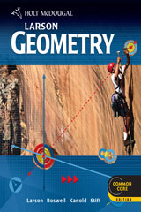 Holt McDougal Larson Geometry  Common Core Chapter Resource Book with Answers, Volume 2-9780547710778