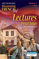 Discovering French Today Lectures pour tous Student Edition Level 3