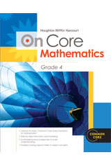 Houghton Mifflin Harcourt On Core Mathematics  Reseller Package Grade 4-9780547872414