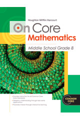 Houghton Mifflin Harcourt On Core Mathematics  Reseller Package Grade 8-9780547873909