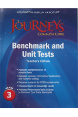 Journeys  Benchmark and Unit Tests Teacher's Edition Grade 3-9780547873961