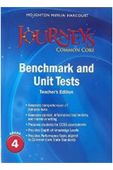 Journeys  Benchmark and Unit Tests Teacher's Edition Grade 4 Grade 4-9780547873978