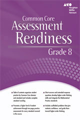 Holt McDougal Mathematics  Assessment Readiness Workbook Grade 8-9780547876139