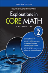 Explorations in Core Math  Common Core Teacher Edition Algebra 2-9780547876160