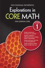 Explorations in Core Math  Common Core Student Edition (Softcover) Algebra 1-9780547882000