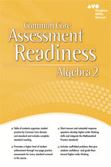 Holt McDougal Algebra 2  Assessment Readiness Workbook-9780547882444