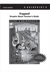 Steck Vaughn BOLDPRINT Graphic Novels  Teaching Cards Trapped!-9780547887890