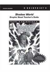 Steck Vaughn BOLDPRINT Graphic Novels  Teaching Cards Shadow World-9780547888095