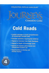 Journeys  Cold Reads Grade 4-9780547893914