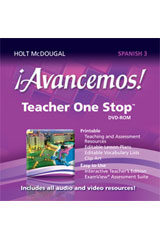 ¡Avancemos!  Teacher One Stop Planner DVD-ROM Level 3-9780547897073