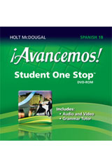 ¡Avancemos!  Student One Stop DVD-ROM Level 1B-9780547897141