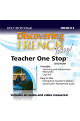 Discovering French Today  Teacher One Stop Planner DVD-ROM Level 2-9780547897363