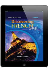 Discovering French Today 1 Year Subscription Online Student Edition Level 1B-9780547901879