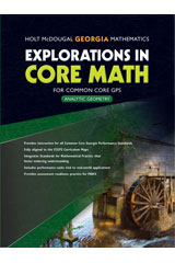 Explorations in Core Math  Common Core GPS Student Edition-9780547902142