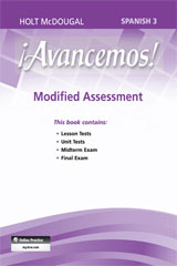 ¡Avancemos!  Modified Assessment Level 3-9780547906010