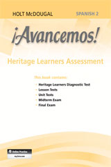 ¡Avancemos!  Heritage Learners Assessment Level 2-9780547907406