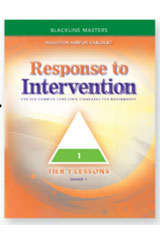 Expresiones en matemáticas  Response To Intervention Tier 1 Blackline Masters Grade 4-9780547910420