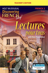 Discovering French Today  Lectures pour tous Teacher Edition with Audio CD Level 3-9780547912134