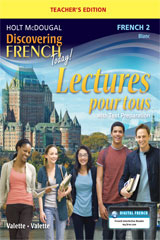 Discovering French Today  Lectures pour tous Teacher Edition with Audio CD Level 2-9780547912257