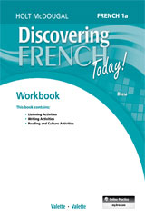 Discovering French Today  Student Edition Workbook Level 1A-9780547914411