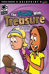 Steck-Vaughn BOLDPRINT Kids Graphic Readers  Leveled Reader 6pk The Trouble with Treasure-9780547931005