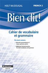 Bien dit!  Vocabulary and Grammar Workbook Student Edition Level 2-9780547951843