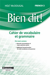 Bien dit!  Vocabulary and Grammar Workbook Student Edition Level 3-9780547951850