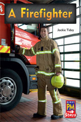 Rigby PM Stars  Individual Student Edition Green (Levels 12-14) A Firefighter-9780547990149