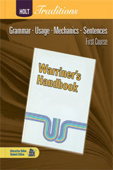 Holt Traditions Warriner's Handbook  Developmental Language and Sentence Skills Answer Key First Course Grade 7-9780554000329