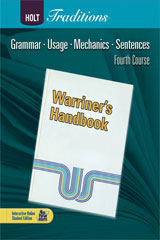 Holt Traditions Warriner's Handbook  Language and Sentence Skills Practice Answer Key Grade 10 Fourth Course-9780554001111