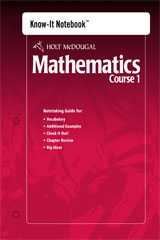 Holt McDougal Mathematics  Know-It Notebook Course 1-9780554005164