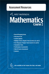 Holt McDougal Mathematics  Assessment Resources with Answers Course 2-9780554007168