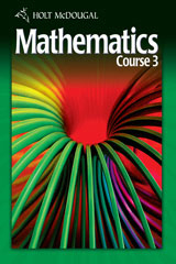 Holt McDougal Mathematics Course 3 © 2010  Interactive Online Edition (6-year subscription)-9780554007618