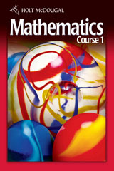 Holt McDougal Mathematics Course 1 © 2010  Student One Stop DVD-ROM-9780554010496
