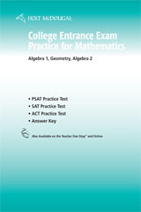 Holt McDougal Algebra 1  College Entrance Exam Practice with Answers-9780554014500