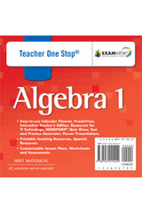 Holt McDougal Algebra 1  Teacher One-Stop DVD-ROM-9780554015422