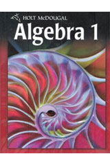 Holt McDougal Algebra 1  Chapter Resources, Volume 2 Chapters 7-12-9780554023663
