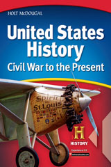 Holt McDougal United States History: Civil War to the Present © 2009  Student One Stop CD-ROM Civil War to the Present-9780554024721