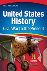Holt McDougal United States History, Civil War to the Present © 2010  Spanish/English Interactive Reader and Study Guide-9780554024752