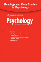 Psychology Principles in Practice Readings and Case Study with Answer Key