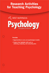 Psychology Principles in Practice  Research Projects and Activities for Teaching-9780554026923