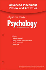 Psychology Principles in Practice Advanced Placement Review and Activities with Answer Key