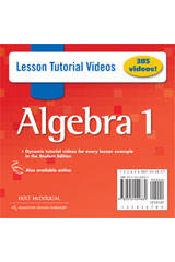 Holt McDougal Algebra 1  Lesson Tutorial Videos DVD-ROM-9780554029689
